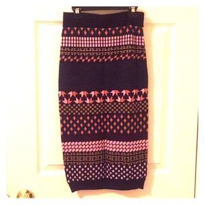 Anthropologie sweater pencil skirt