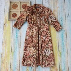 Sheri Drobnick Damask Tapestry Trench Coat S