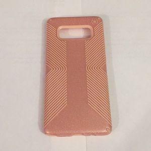 Note 8 Speck Pink Presidio Grip Gold Glitter Case