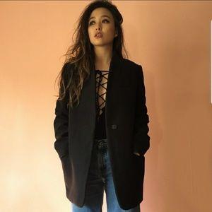 Zara Mandarin Collar Coat