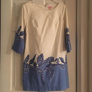 Lilly Pulitzer blue seashell shift dress