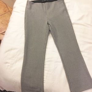 ZARA Cropped Flare Plaid Pants