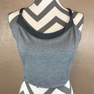 Old Navy Go-Dry Gray Athletic Crop Top