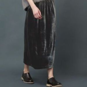 Eileen Fisher Velvet Maxi Skirt in Black