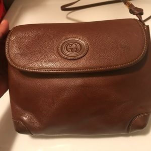 Authentic Vintage Gucci Crossbody brown bag