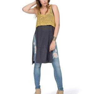 Free People Two-Tone Twofer Tank Sweater