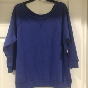 3/4 sleeve cotton sweatshirt