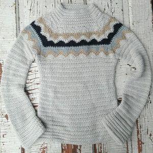 J. Crew chunky knit by hand sweater alpaca medium