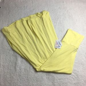 NWT Solid yellow Lularoe maxi skirt