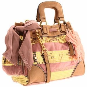 Juicy Couture Sequin/Velour Stripe Day Dreamer Bag