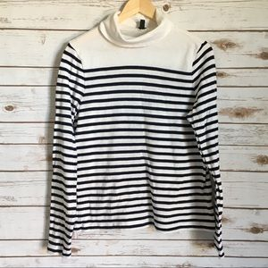 J. Crew Stripe Turtleneck Sweater
