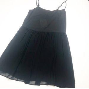 """NWT! Joie """"Jordie"""" Silk Black Babydoll Dress."""