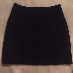 H&M Charcoal gray wool mini skirt.