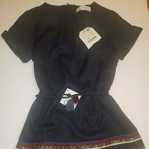 Zara Girls soft collection blue dress size 7...NWT