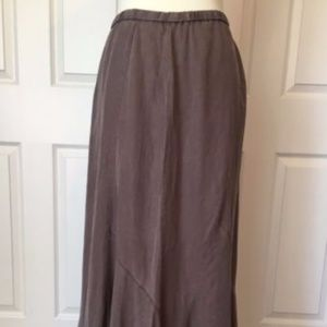 NWT J.Jill Maxi Skirt Brown Tencel Size M Tall
