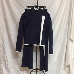 Nike navy track suit medium top small bottom Match