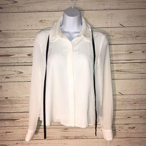 Zara blouse velvet tie
