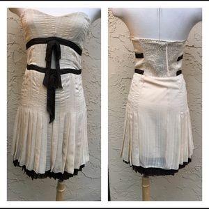 Ryu New Cream Brown Strapless Dress