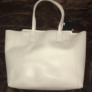 ZARA white tote bag