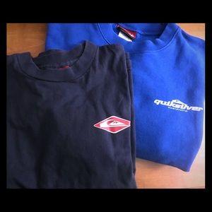 Boys XL Quicksilver Sweatshirt & Lg Longsleeve Tee