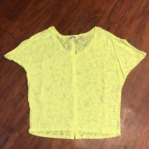 Express Yellow Oversized Sheath Blouse