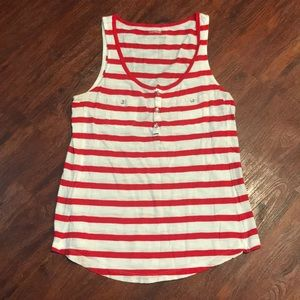 Express Red & White Striped Tank