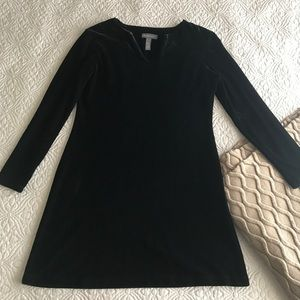 Banana Republic black velvet like dress