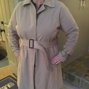 Talbots Khaki Trench Rain Coat Size 14W