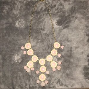 JCrew Famous Bauble Necklace in Pink & Gold!