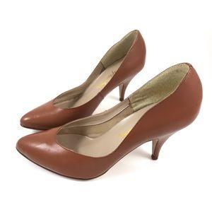 1970s VTG caramel brown stilettos by Captivators