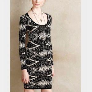 Anthropologie Moire Patterned Sheath Dress
