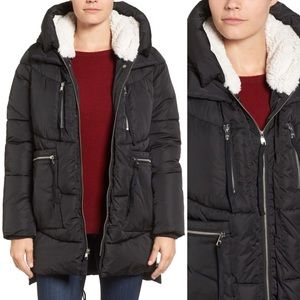 NWT Steve Madden Hooded Puffer Jacket
