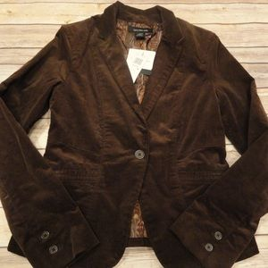 Calvin Klein chocolate brown corduroy blazer