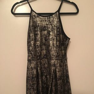 Holiday dress black and gold