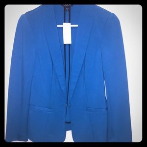 Bebe fitted blue blazer