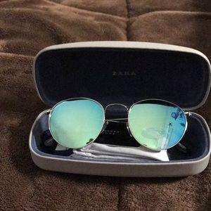 zara reflective sunglasses