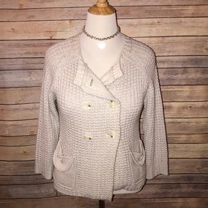 BCBG Double Breasted Sweater Coat
