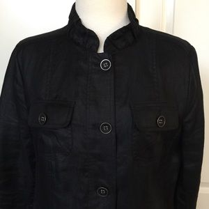 CHICO'S black linen jacket