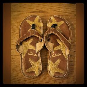 Clark's Starfish Thong Sandals Flip Flops