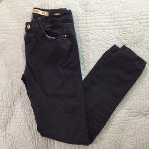 Zara TRF Navy Tuxedo Skinny Pants, Size 4