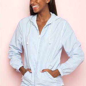Brandy Melville blue krissy windbreaker jacket
