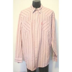 Chaps Denim Pearl Snap Long Sleeve Shirt XXL
