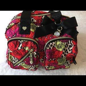 Betsey Johnson rose pattern purse
