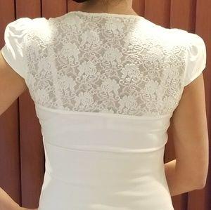 Silk/spandex blouse