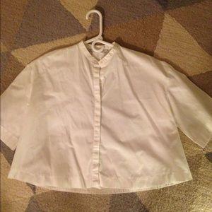 ZARA short white shirt