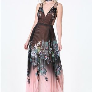 Bebe Pleated Gown