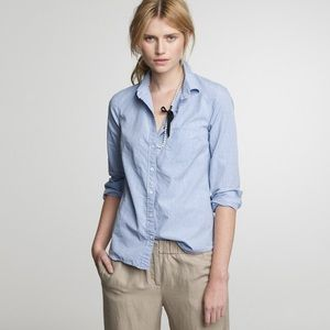 J Crew The Perfect Shirt Button Down. NWOT