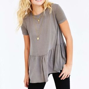 Urban outfitters Babydoll Peplum Top