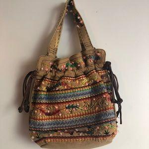Lucky Brand Embroidered Bohemian Bag