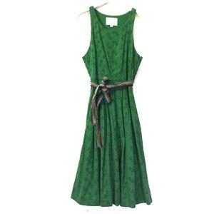 """Postmark """"Green Court"""" racket tie waist dress 00"""